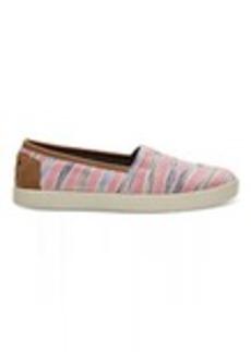 Peony Ikat Stripe Textile Women's Avalon Slip-Ons