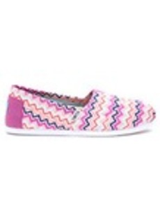 Pink Canvas Chevron Women's Classics