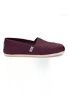 TOMS Shoes Red Mahogany Canvas Women's Classics