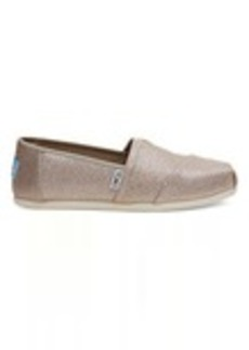 TOMS Shoes Rose Gold Glimmer Women's Classics