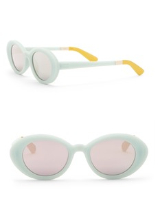 TOMS Shoes Rossio 48mm Oval Sunglasses
