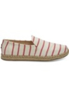 Spiced Coral Stripe Women's Deconstructed Alpargatas
