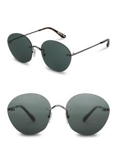 TOMS Shoes 55mm Clara Round Sunglasses