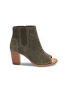 TOMS Shoes Tarmac Olive Perforated Suede Women's Majorca Pe...