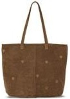 TOMS Shoes Toffee Suede Embroidered Cosmopolitan Tote
