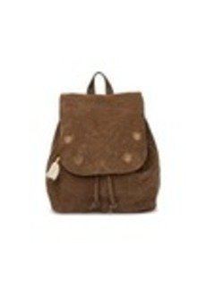 TOMS Shoes Toffee Suede Embroidered Poet Backpack