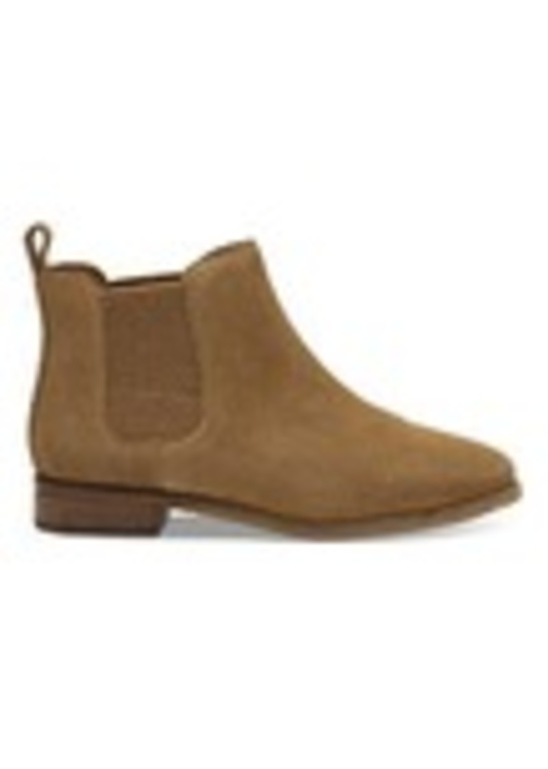 4128f10fa28 TOMS Shoes Toffee Suede Women s Ella Booties Now  83.99