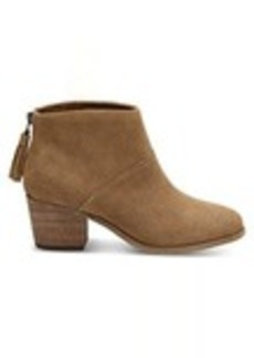 TOMS Shoes Toffee Suede Women's Leila Booties