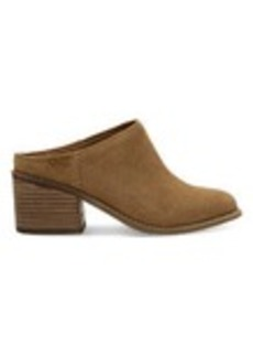 TOMS Shoes Toffee Suede Women's Leila Mules