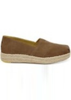 TOMS Shoes Toffee Suede Women's Platform Espadrilles