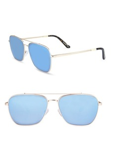 TOMS Shoes TOMS 56MM Mirror Aviator Sunglasses