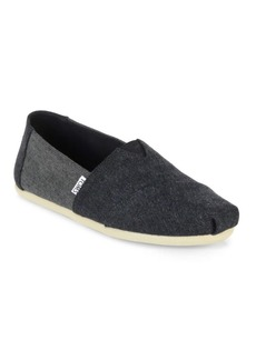 TOMS Shoes Alpargartas Deconstructed Wool Slip-On Sneakers
