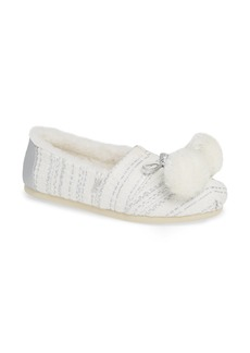 TOMS Shoes TOMS Alpargata Slip-On with Faux Fur Lining & Pompoms (Women)