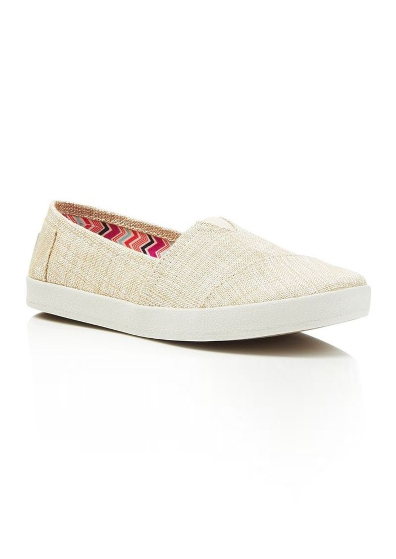 TOMS Shoes TOMS Women's Avalon Metallic Linen Slip On Sneakers