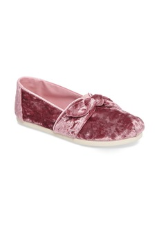 TOMS Bow Velvet Slip-On (Women)