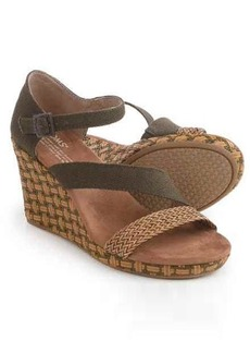 TOMS Shoes TOMS Clarissa Wrapped Wedge Sandals (For Women)