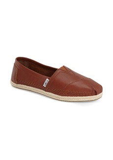 TOMS Shoes TOMS 'Classic - Leather' Espadrille Slip-On (Women)