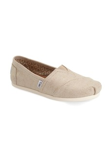 TOMS Shoes TOMS 'Classic - Metallic Burlap' Slip-On (Women)