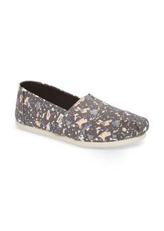 TOMS Shoes TOMS 'Classic - Metallic Burlap' Slip-On (Women)