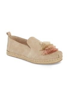 TOMS Shoes TOMS Deconstructed Tiered Tassel Alpargata Slip-On (Women)