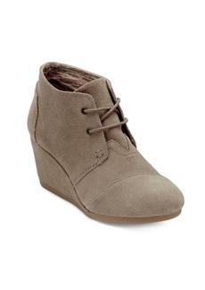 TOMS Shoes TOMS Desert Suede Wedge Booties