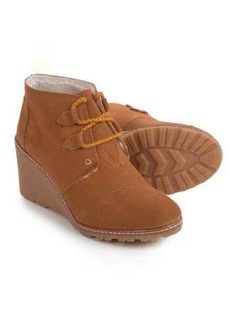 TOMS Shoes TOMS Desert Wedge Ankle Boots (For Women)