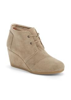 TOMS Shoes TOMS 'Desert' Wedge Bootie (Women)