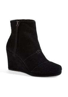 TOMS Shoes TOMS 'Desert' Wedge High Bootie (Women)