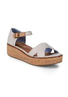 TOMS Shoes Harper Canvas Platform Sandals