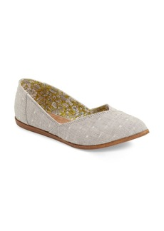 TOMS 'Jutti' Chambray Flat (Women)