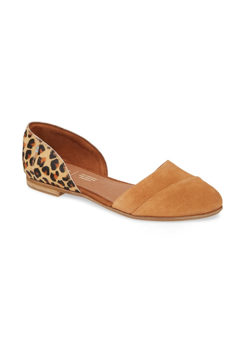 TOMS Shoes TOMS Jutti d'Orsay Genuine Calf Hair Flat (Women)
