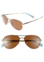 TOMS Shoes TOMS 'Kilgore' 57mm Polarized Aviator Sunglasses
