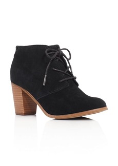 TOMS Shoes TOMS Lunata Lace Up High Heel Booties