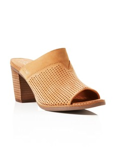 TOMS Shoes TOMS Majorca Perforated High Heel Slide Sandals