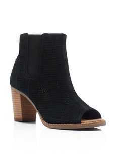 TOMS Shoes TOMS Majorca Perforated Open Toe Booties