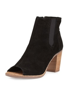 TOMS Shoes TOMS Majorca Perforated Suede Bootie