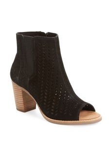TOMS Shoes TOMS Majorca Perforated Suede Bootie (Women)