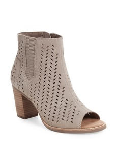 TOMS Majorca Perforated Suede Bootie (Women)