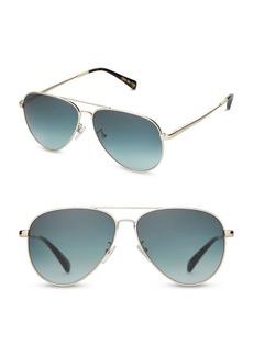 TOMS Shoes TOMS Maverick 301 59MM Aviator Sunglasses