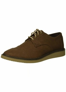 TOMS Shoes TOMS Men's Brogue Oxford bark Synthetic Leather  Medium US
