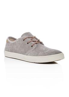 TOMS Shoes TOMS Men's Carlo Corduroy Lace Up Sneakers