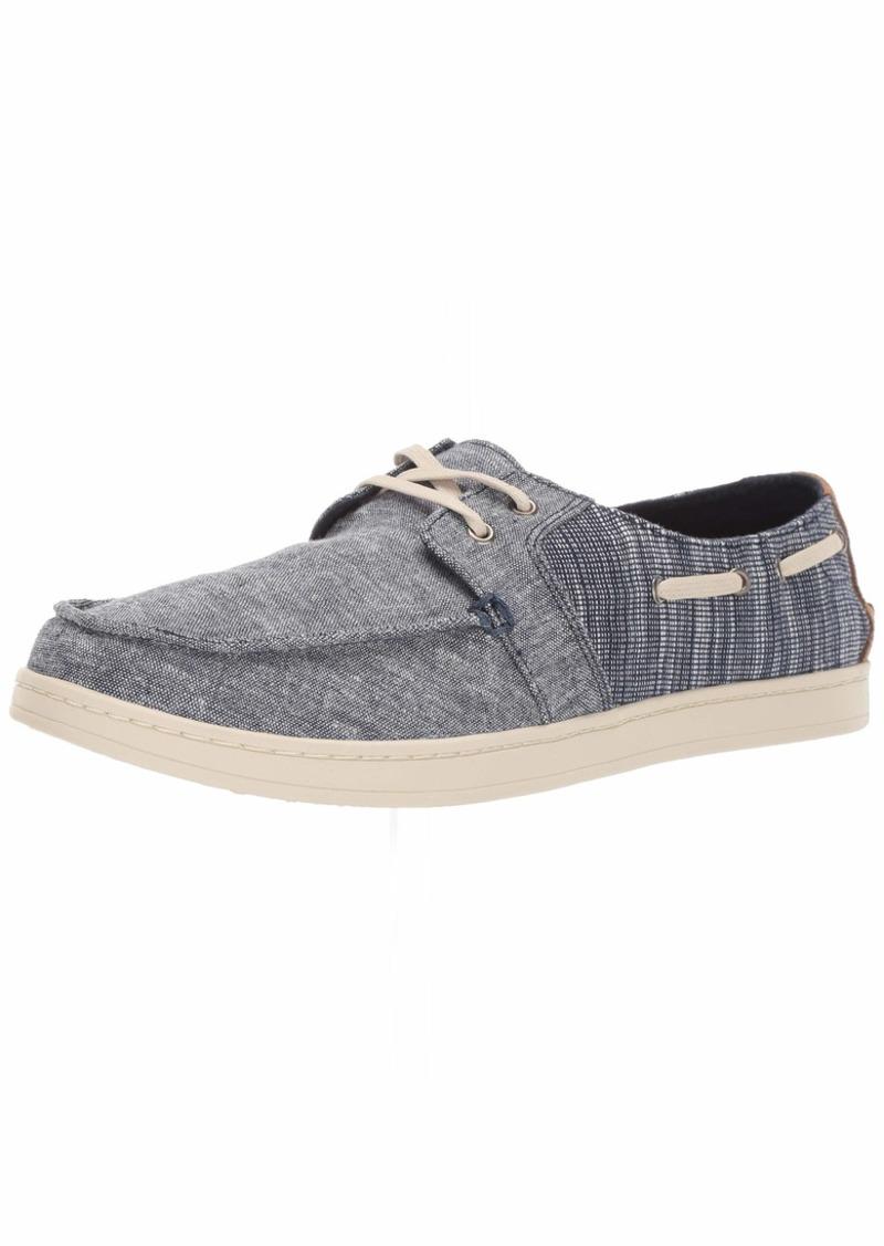 TOMS Shoes TOMS Men's Culver Boat Shoe Navy slub Chambray Mix 9.5 B Medium US