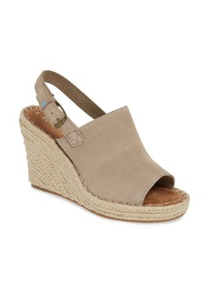TOMS Shoes TOMS Monica Slingback Wedge (Women)
