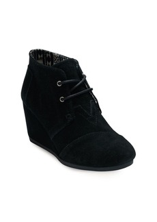 TOMS Shoes TOMS One For One Desert Wedge Lace-Up Suede Booties