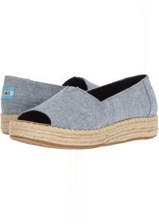 TOMS Shoes Open Toe Platform Alpargata