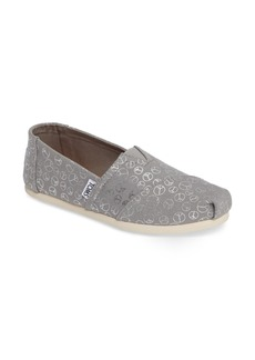 TOMS Peace Sign Alpargata Slip-On (Women)