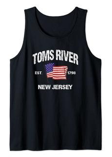 TOMS Shoes Toms River New Jersey NJ USA Stars & Stripes Vintage Style Tank Top