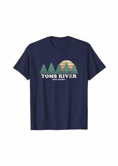TOMS Shoes Toms River NJ Vintage Throwback Tee Retro 70s Design T-Shirt