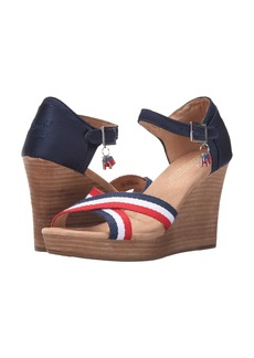 TOMS Strappy Wedge Election Charms