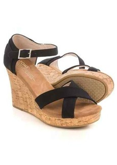 TOMS Shoes TOMS Strappy Wedge Sandals (For Women)